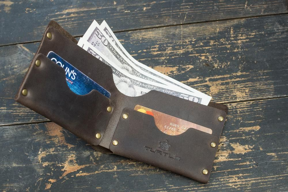 Genuine Leather Holder Brown Wallet Pocket Card Handmade Minimalist #4
