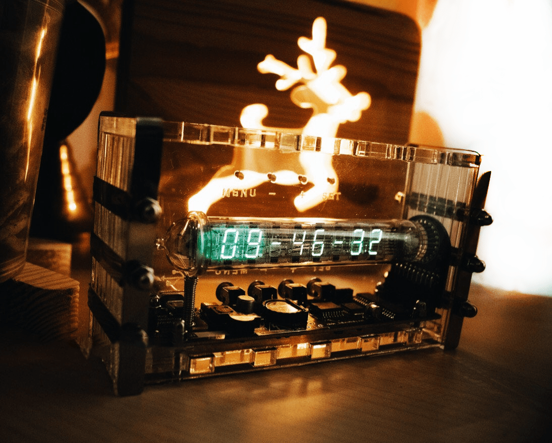 Assembled Ice Tube clock IV-18 VFD