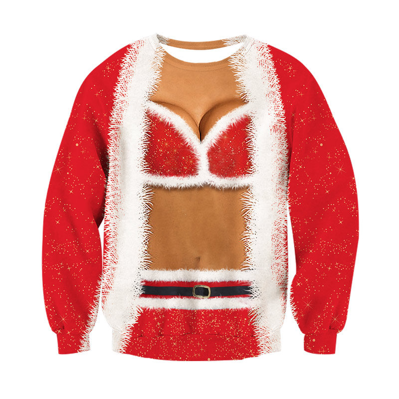 Ho, Ho, Ho Ugly Christmas Sweater Holiday Festive Lg