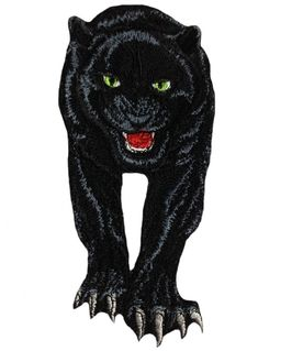 Black panther patch iron on