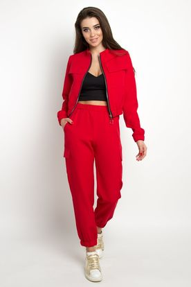 hot red tracksuit