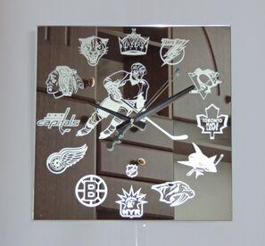 Hockey Design Wall Clock Modern Interior