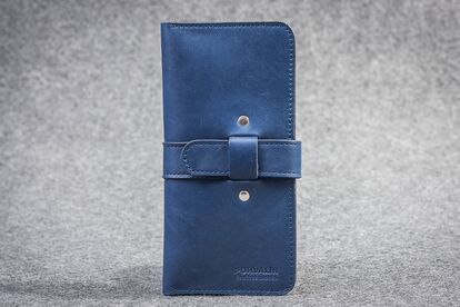 Leather wallet dark brown